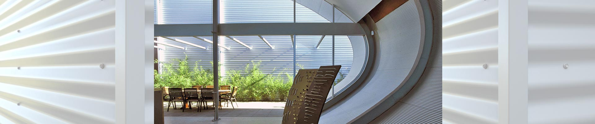 Curved interior sheetmetal